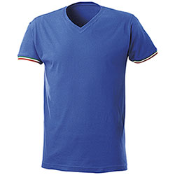 T-Shirt Nation Collo a V Royal
