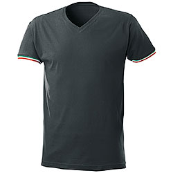 T-Shirt collo a V World Cup Black