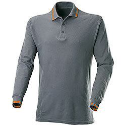 Polo Manica Lunga Dark Grey