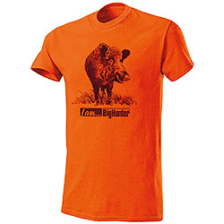 T-Shirt Cinghiale I Am Big Hunter Orange