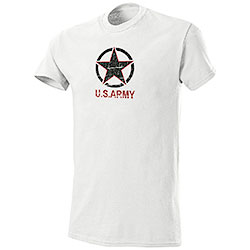 T-Shirt U.S.Army White