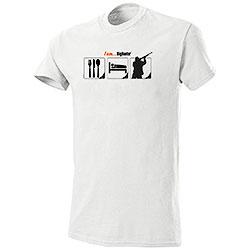 T-Shirt Eat Sleep Hunt I am Big Hunter White