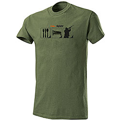 T-Shirt Eat Sleep Hunt I am Big Hunter Green