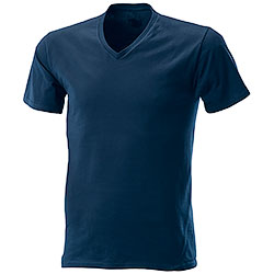 T-Shirt Navy Collo V