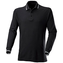 Polo piquet Manica Lunga Black