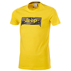 T-Shirt uomo Jeep Grille Background Yellow