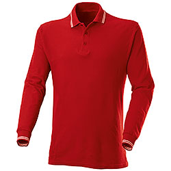 Polo piquet Manica Lunga Red