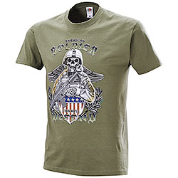 T-Shirt Fruit of the Loom American Soldier Defend