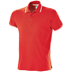 Polo Fruit of the Loom Premium Tipped Red