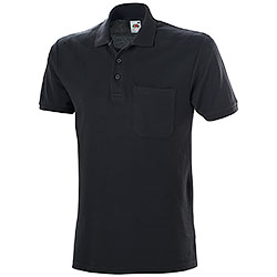 Polo Fruit of the Loom con Taschino Black