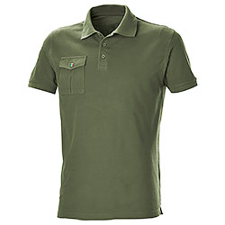 Polo Piquet Pocket Army Green