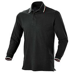 Polo Manica Lunga Winner Black