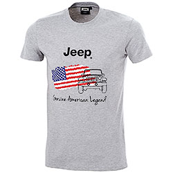 T-Shirt uomo Jeep American Legend Light Grey Mélange