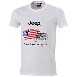 T-Shirt uomo Jeep American Legend White