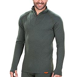 Maglietta termica Kalibro Lana Merino Zip Green M/L