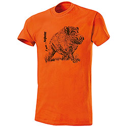 T-Shirt Cinghiale New I am...BigHunter Orange