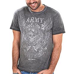 T-Shirt uomo Kalibro Vintage Skull Guns Black