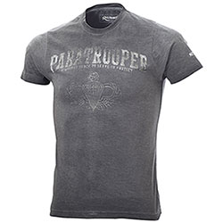 T-Shirt uomo Kalibro Vintage Paratrooper Black