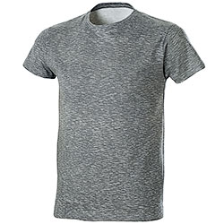 T-Shirt Fire Effect Grey