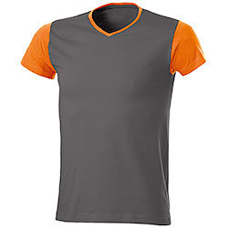 T-Shirt Trendy Bicolor Orange Grey