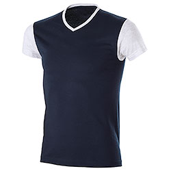 T-Shirt uomo Trendy Bicolor Navy-Light Grey