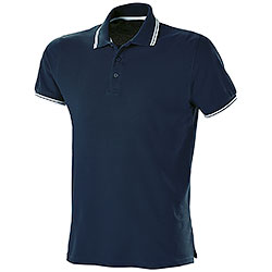 Polo Premium Tipped Fruit of the Loom Blu Notte