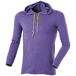 T-Shirt M/Lunga Cappuccio Heather Purple
