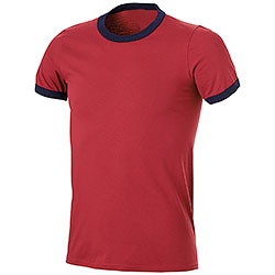 T-Shirt Ringer-T Indipendence Red-Navy