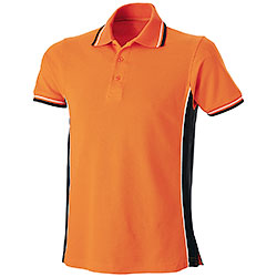 Polo Piquet Orange-Black