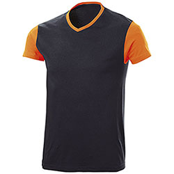 T-Shirt Trendy Bicolor Black Orange