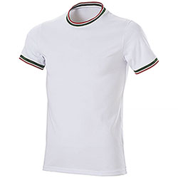 T-Shirt Italy Cotone Ring Spun White