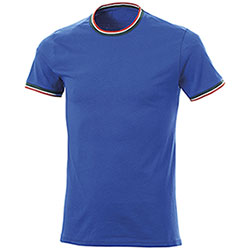 T-Shirt Italy Cotone Ring Spun Royal