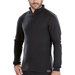 Maglietta termica Kalibro Cotton-Siltex Zip Black