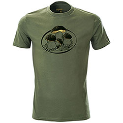 T-Shirt Funghi Porcini Green Black&Gold