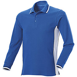Polo Manica Lunga uomo Melt Royal-White