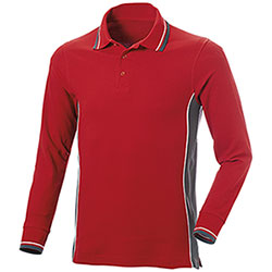 Polo Manica Lunga uomo Melt Red-Grey