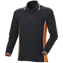 Polo Manica Lunga Uomo Melt Black-Orange