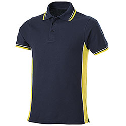Polo Piquet Navy-Yellow