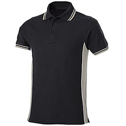Polo Piquet Black-Light Grey
