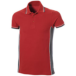 Polo Piquet Red-Grey