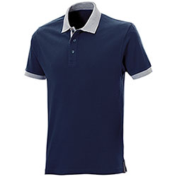 Polo piquet Force Navy-Grey Mélange