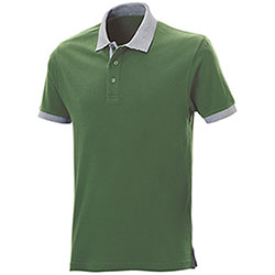 Polo piquet Force Green-Grey Mélange