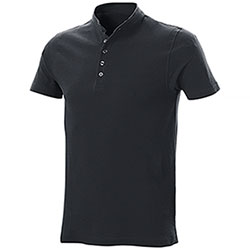 Polo piquet Collo Coreana Black