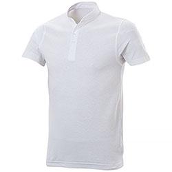 Polo piquet Collo Coreana White