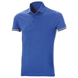 Polo uomo manica corta Tricolor Royal