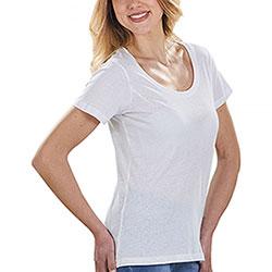 T-Shirt Donna Cotton Scollo Rotondo White