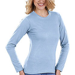 T-Shirt Donna Soft Style Fit Light Blu M/L