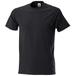 T-Shirt Oversize Fruit of the Loom Black