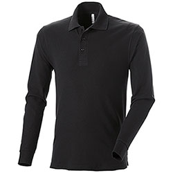 Polo Cotton Work Black M/L