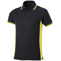 Polo Piquet Evolution Black-Yellow